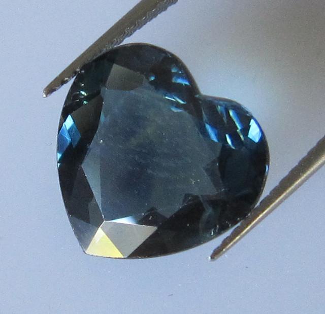 4.93cts Natural Australian Blue Heart Shape Sapphire