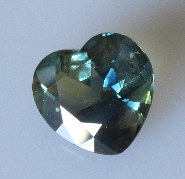 4.35cts Natural Australian Parti Colour Heart Shape Sapphire
