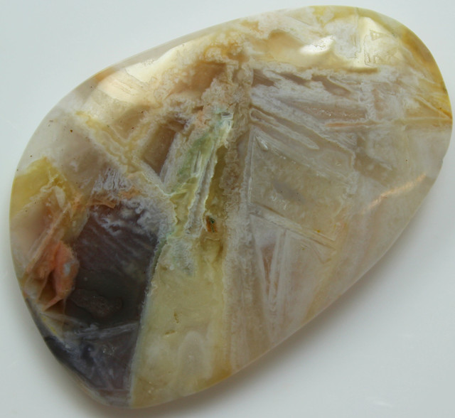 55.70 CTS SAGENITE AGATE CABOCHON STONE FROM OLD COLLECTION