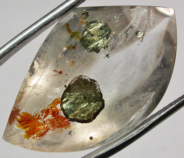 20.34 CTS QUARTZ WITH MICA  EYE INCLUSIONS [ST7499]