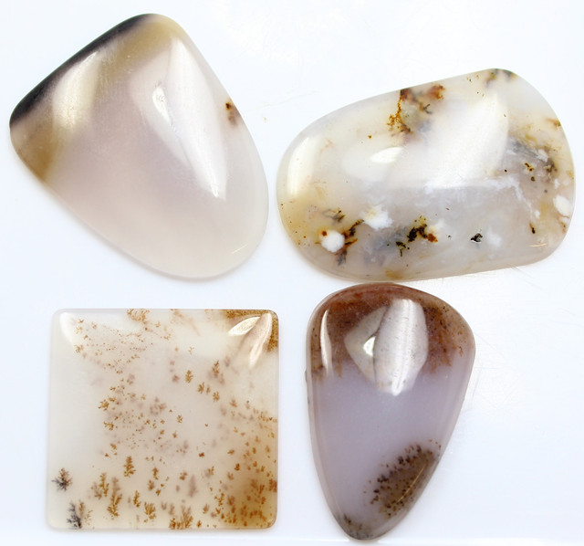 81.10 CTS - 4 PCS DENDRITIC AGATE PARCEL POLISHED STONES