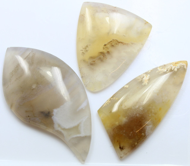 101.65 CTS  - 3 PCS AGATE POLISHED STONE PARCEL