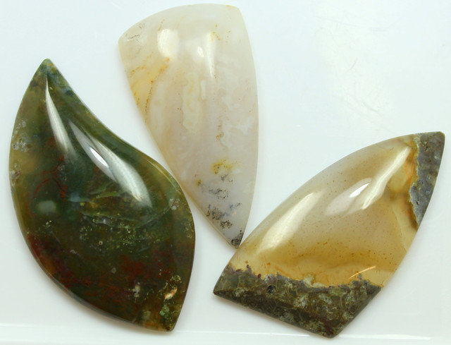 93.60 CTS  - 3 PCS AGATE POLISHED STONE PARCEL