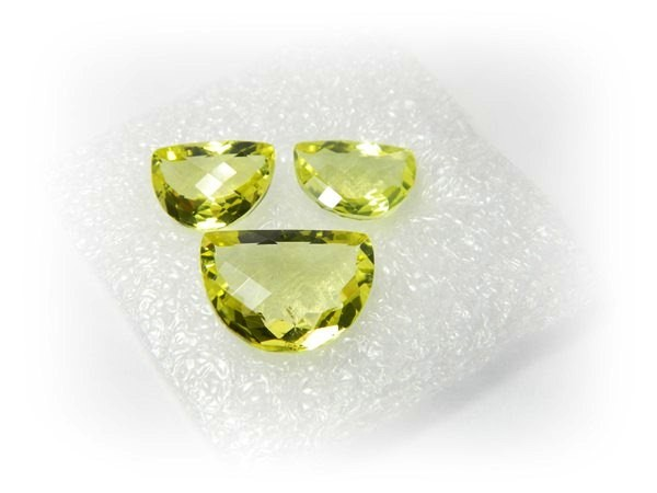 Natural Jewelery Set Lemon Quartz Stone Set J386