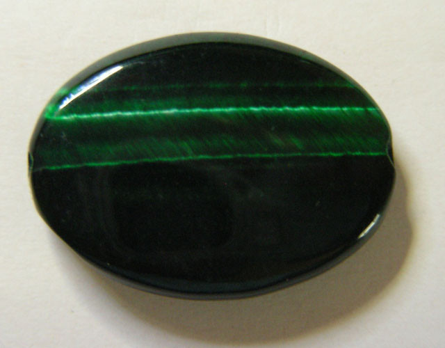 20 CTS TIGERS EYE DYED GREEN 11299