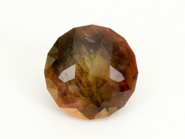 SALE WAS $12,400 ~ 12.1ct , Rootbeer Round Brilliant Oregon Sunstone(S220)