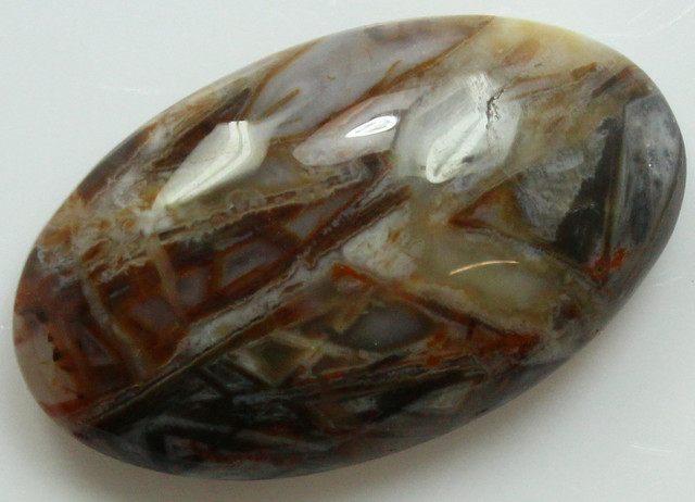 25.20 CTS SAGENITE AGATE CABOCHON STONE FROM OLD COLLECTION
