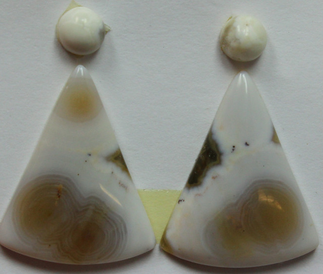15.00 CTS OCEAN JASPER PAIR 4 STONES FOR EARRINGS