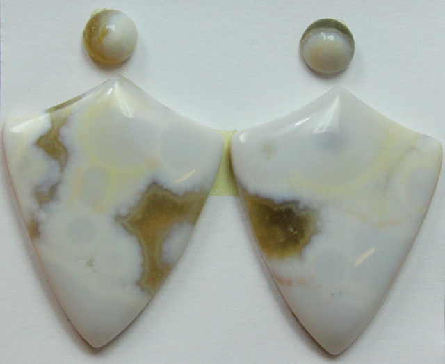 22.50 CTS OCEAN JASPER PAIR 4 STONES FOR EARRINGS