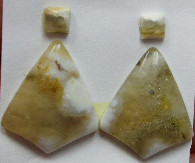 21.00 CTS OCEAN JASPER PAIR 4 STONES FOR EARRINGS