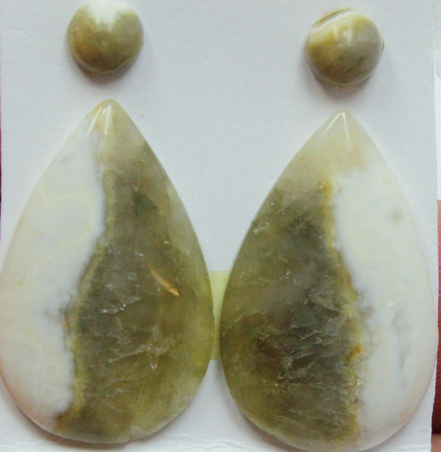 17.00 CTS OCEAN JASPER PAIR 4 STONES FOR EARRINGS