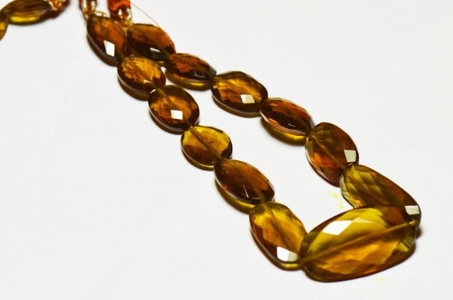 15mm - 26mm orange brown COGNAC QUARTZ faceted beads AAA