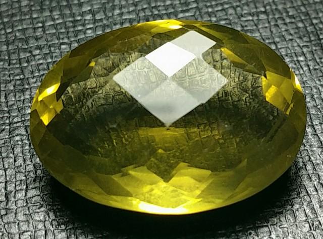 33ct 26mm Lemon Citrine also called Gold Green Citrine