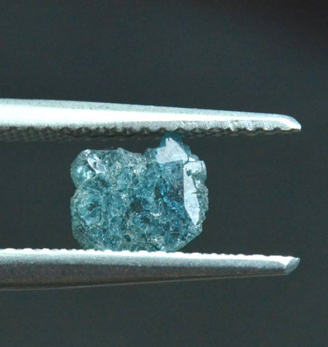 0.36ct 6.7mm blue diamond slice 6.7 by 6 by 0.8mm