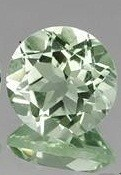 PRASIOLITE / GREEN AMETHYST 3.90 CARAT WEIGHT ROUND GEMSTONE