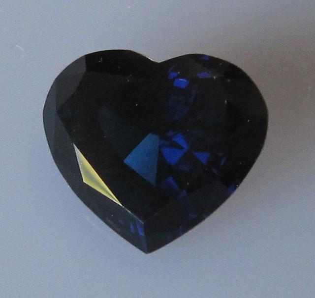 4.34cts Natural Australian Blue Heart Shape Sapphire