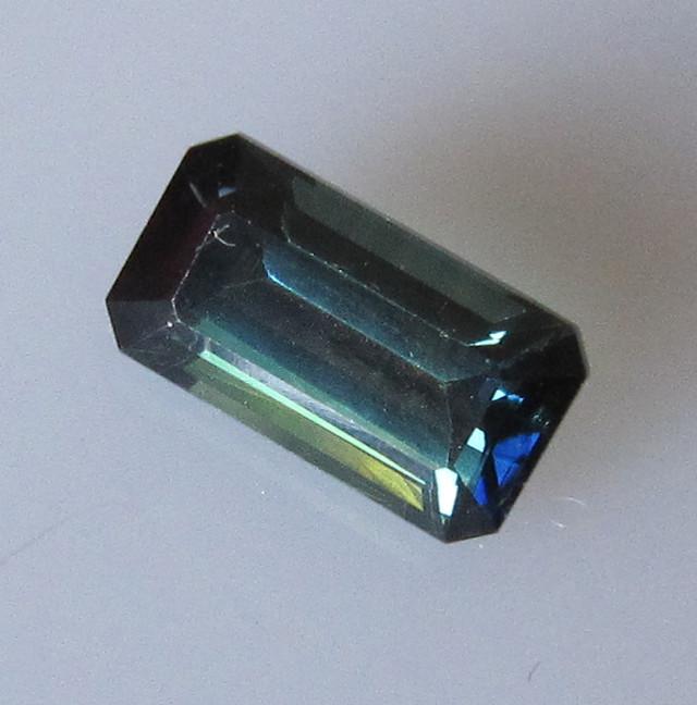 1.61cts Natural Australian Blue Emerald Cut Sapphire