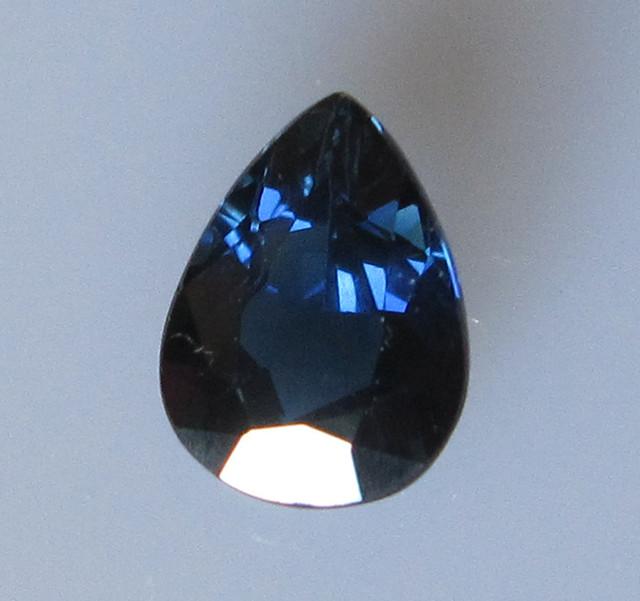 1.63cts Natural Australian Blue Pear Shape Sapphire