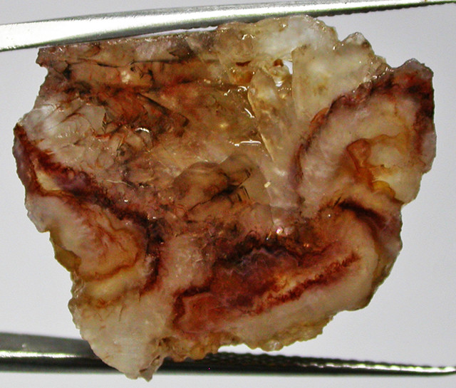 29.57 CTS FIRE AGATE ROUGH -GREAT PATTERN  [MGW3132]