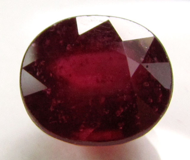 6.55 CTS FACETED ROUND RED RUBY 11 827