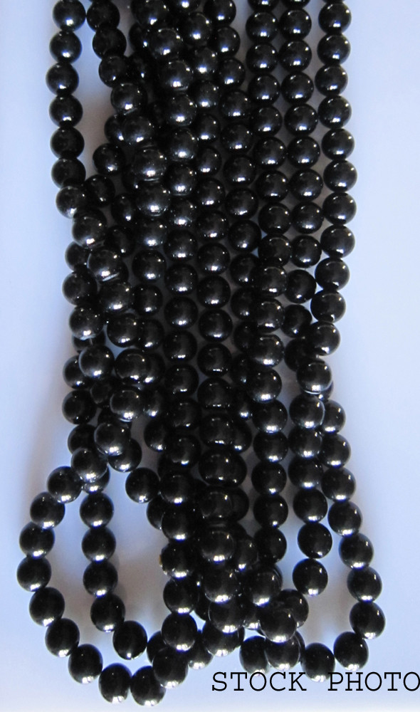 """Onyx Beads 8mm, Auction for 1 Strand 16"""""""