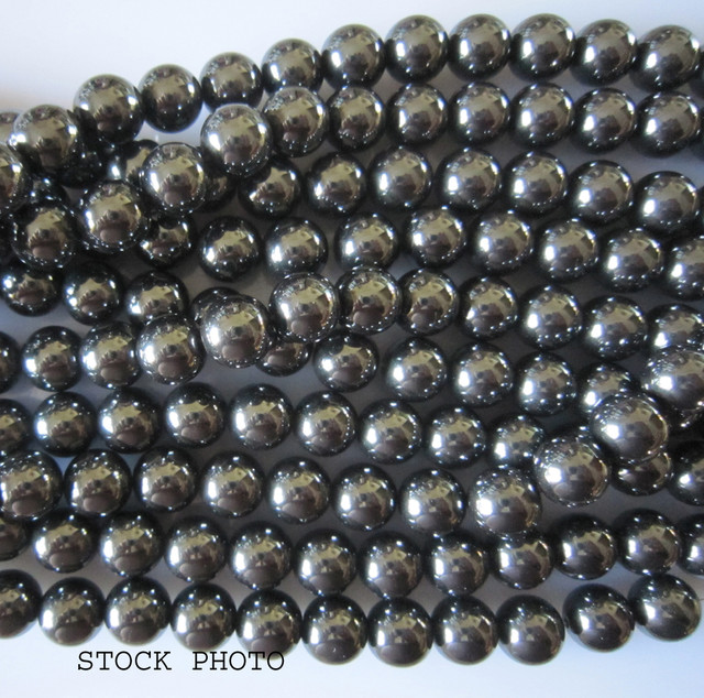 """Hematite Beads 10mm, Auction is for 1 Strand 16"""""""