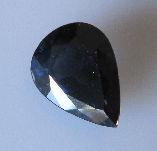 5.06cts Natural Australian Blue Pear Shape Sapphire