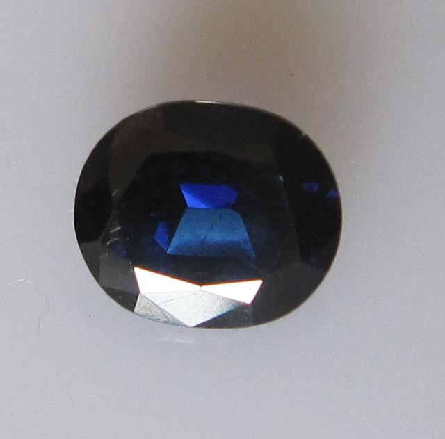 1.46cts Natural Australian Blue Oval Shape Sapphire