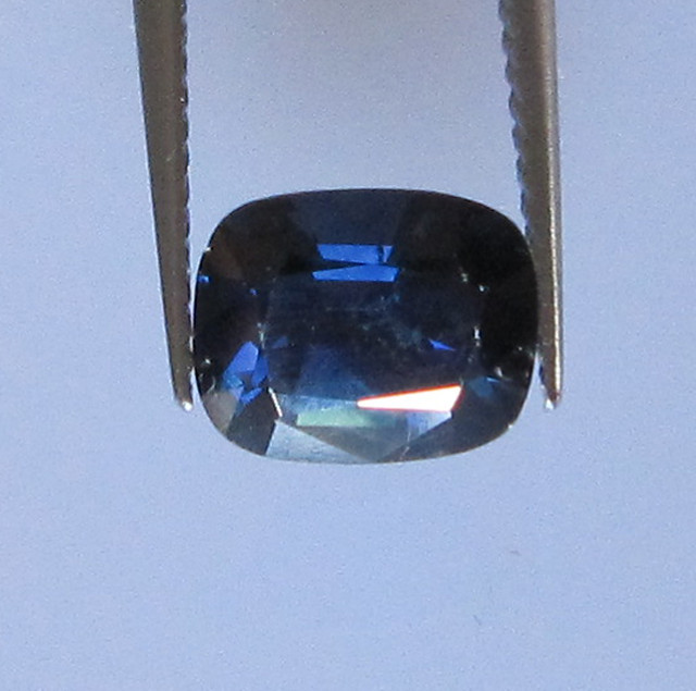 1.46cts Natural Australian Cushion Cut Blue Sapphire