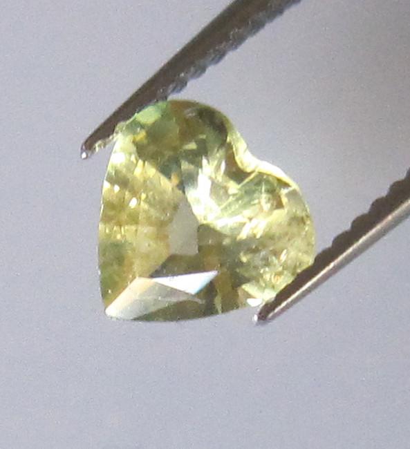0.85cts Natural Australian Heart Shape Parti Colour Sapphire