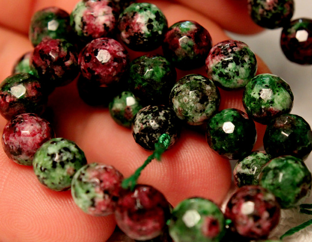179.5 Tcw. Faceted Chrysocolla Strand, 14inches, 8mm