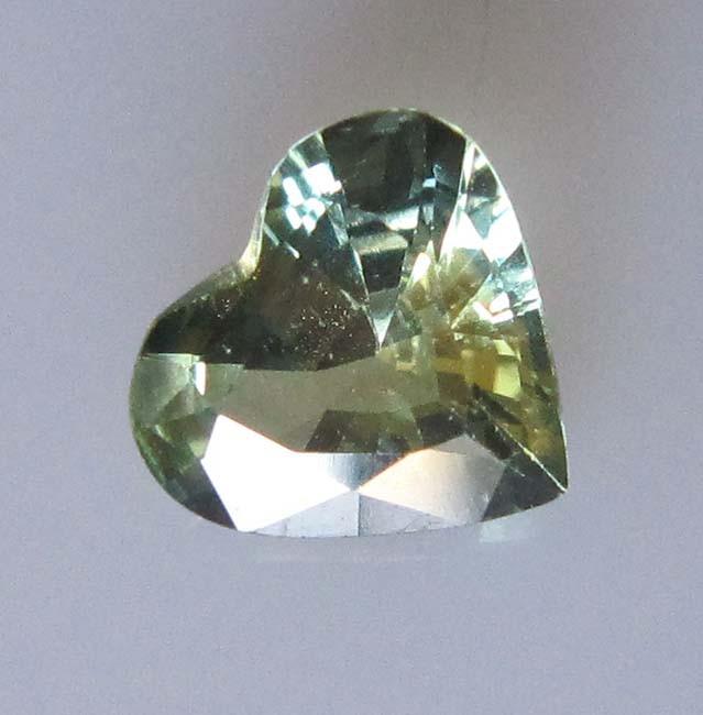 1.05cts Natural Australian Yellow Parti Sapphire Heart Shape