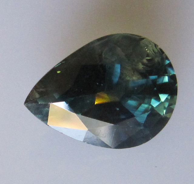 5.27cts Natural Australian Parti Colour Pear Shape Sapphire