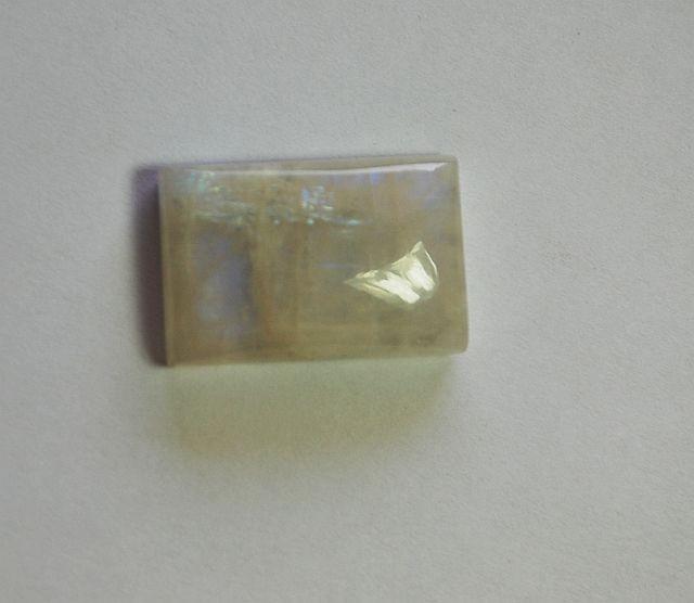 62 carat RAINBOW MOONSTONE CABOCHON