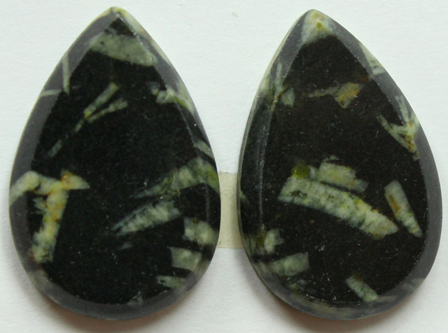 31.50 CTS FEATHER AGATE PAIR OF STONES FLAT CAB