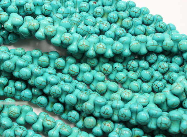 400 CTS HOWLITE 1 STRAND BEADS 12 X 7 MM - 16 INCHES