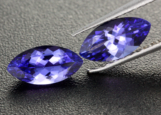 2.38 CTS  CERTIFIED VVS TANZANITE PAIR - EXCELLENT [ZST302]