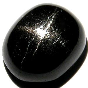 BLACK STAR DIOPSIDE 5.20 CARAT OVAL CABOCHON GEMSTONE NR BIN