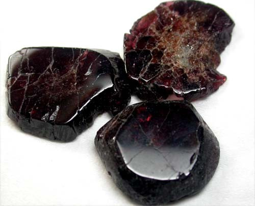 GARNET  SLICES FOR BEADS  73 CTS [MGW1342 ]