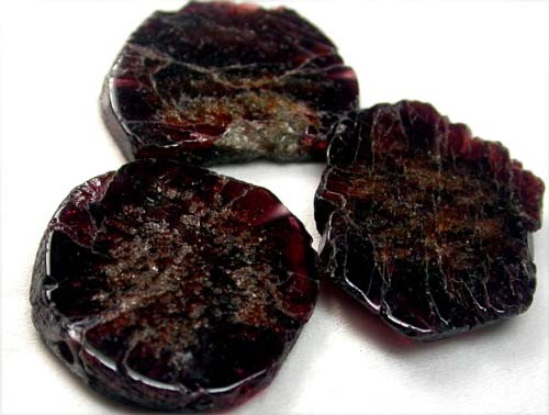 GARNET  SLICES FOR BEADS 68 CTS [MGW1349 ]