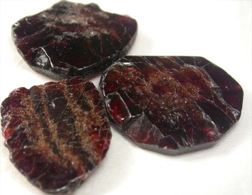 GARNET  SLICES FOR BEADS  63 CTS [MGW1361 ]