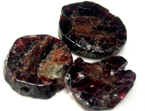 GARNET  SLICES FOR BEADS 78 CTS [MGW1362 ]