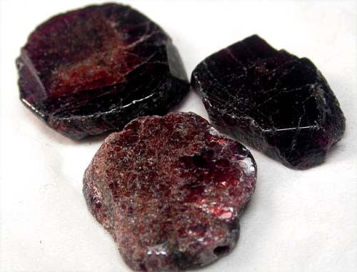 GARNET  SLICES FOR BEADS 68 CTS [MGW1371 ]
