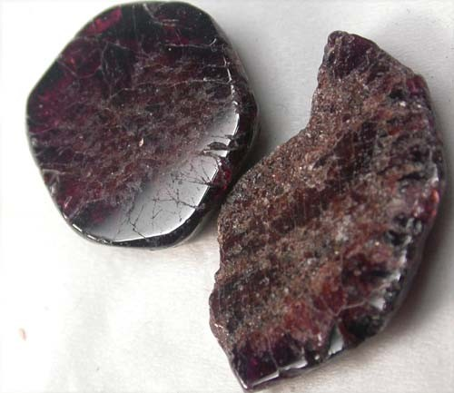 GARNET  SLICES FOR BEADS  43 CTS [MGW1378 ]