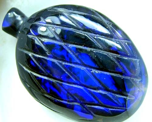 BLACK OPAL VASE CARVING 22 CTS [MGW1440 ]