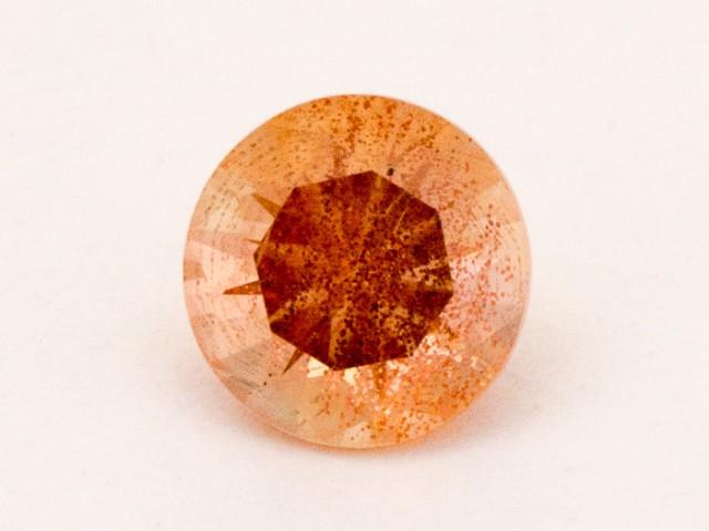 1.2ct Oregon Sunstone, Peach Round Schiller (S776)