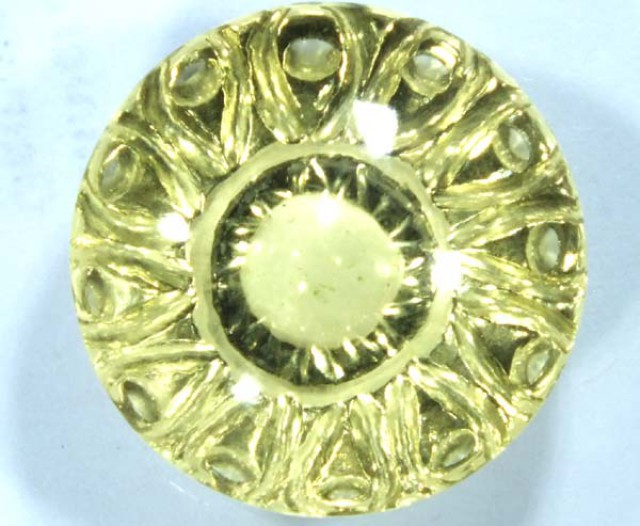 GEMSTONE CARVED  GREEN QUARTZ 19.5 CTS  CG-1504