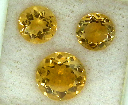 CITIRINE FACETED  PARCEL NATURAL 4.89 CTS   RNG-274