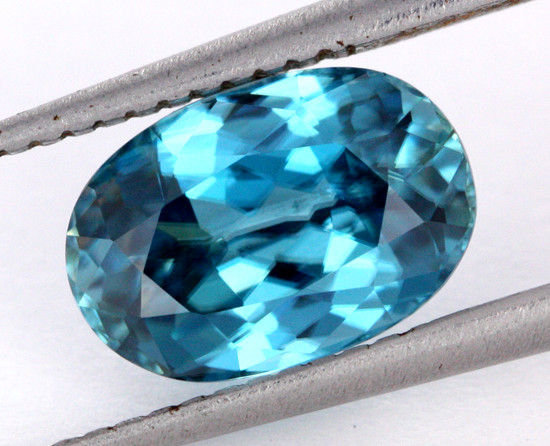 3.39 CTS VVS CERTIFIED BLUE CAMBODIAN ZIRCON - [ZCB10]