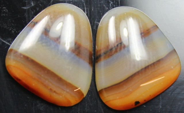 9.25 CTS WYOMING AGATE PAIR PERFECT FOR EARRINGS